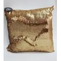 Cojin lentejuelas oro-cobre