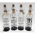 Botellas con luz y frases dedicadas