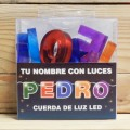 LETRAS LED PEDRO
