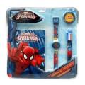 Set spiderman reloj- diario y boligrafo