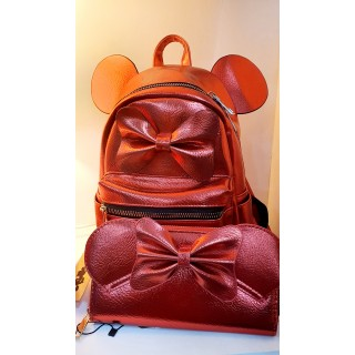 Pack mochila + cartera de Minnie polipiel