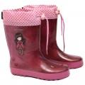 Botas agua GORJUSS granate y rosa