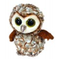 Peluche TY PERCY - Barn Owl 15 cm