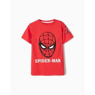 Camiseta manga corta roja de Spiderman