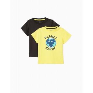 Pack 2 camisetas bebé modelo planet