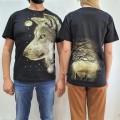 Camiseta Lobo en 3D Glow in the Dark