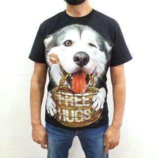 Camiseta HUSKY free Hugs
